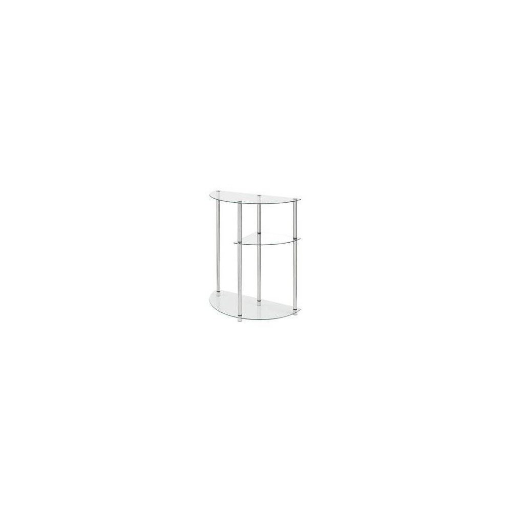 Image of Designs2Go Classic Glass 3 Tier Display Entryway Table Glass - Johar Furniture