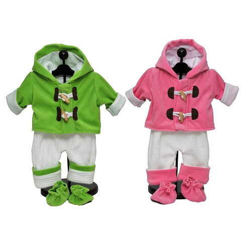 "The Queen's Treasures 15"" Doll Twin Overall Outfits, Set of 2 - image 1 of 4"
