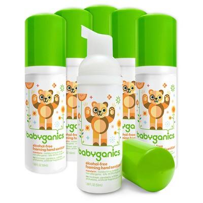 Babyganics Hand Sanitizer Mandarin - 50ml (6pk)