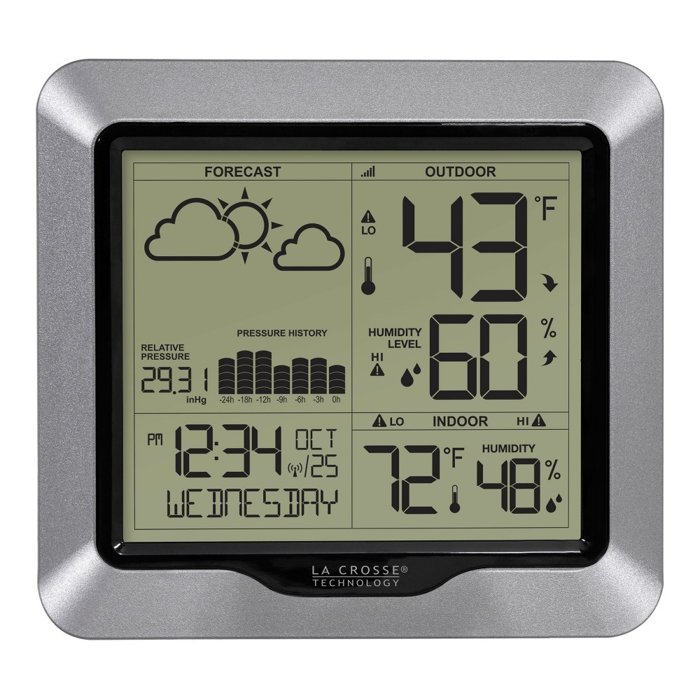 La Crosse Technology Wireless Weather Station with Forecast and Atomic Time La Crosse Technology Wireless Weather Station with Forecast and Atomic Time