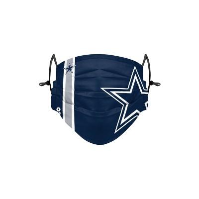 NFL Dallas Cowboys Adult Gameday Adjustable Face Mask - 2pk
