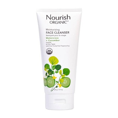 Nourish Organic Moisturizing Face Cleanser - Watercress & Cucumber - 6 fl oz