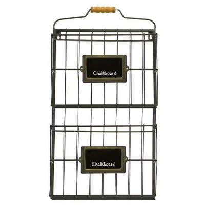Metal Wall File Holder Black (13 x23 )- VIP Home & Garden