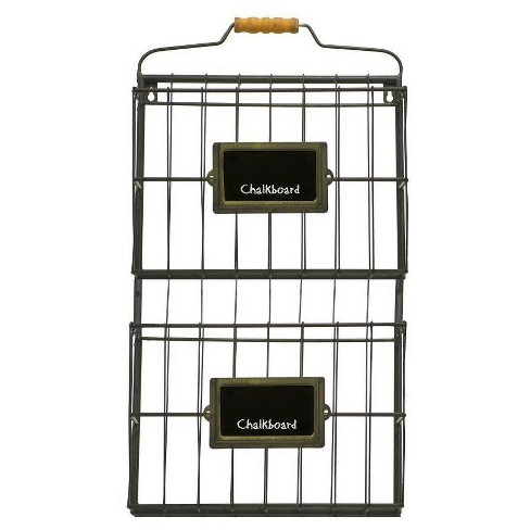 """Metal Wall File Holder Black (13""""x23"""") - VIP Home & Garden - image 1 of 1"""