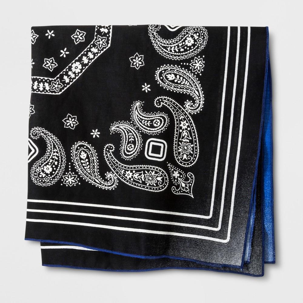Image of Kids' Reversible Bandana - Black/Blue One Size, Kids Unisex