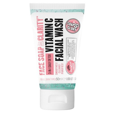 Soap & Glory Face Soap & Clarity Facial Wash Travel Size - 1.69oz