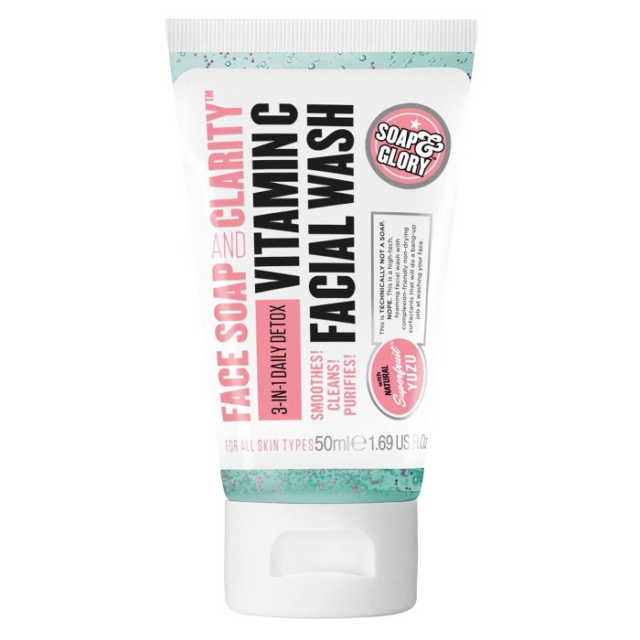 Soap & Glory Face Soap & Clarity Facial Wash Travel Size - 1.69oz : Target