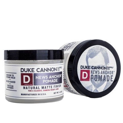 Duke Cannon News Anchor Medium to Strong Hold Natural Matte Finish Pomade - 4.6oz