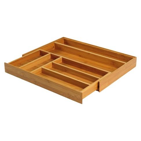 Bamboo Expandable Flatware Drawer Organizer - Threshold™ - image 1 of 2