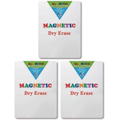 """Flipside Magnetic Plastic Mobile Dry-Erase Whiteboard 9"""" x 12"""" Pack of 3 FLP10025-3"""
