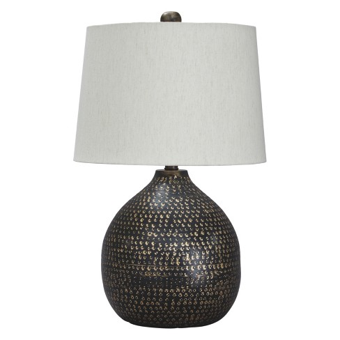 Maire Metal Table Lamp Black Gold Signature Design By Ashley