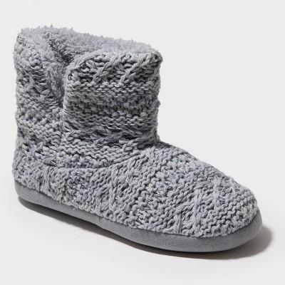 Women's dluxe by dearfoams Calandra Slipper Boots - Gray XL