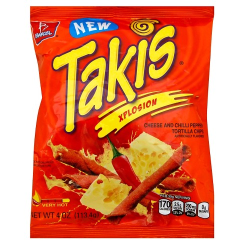 Barcel Takis Xplosion Cheese & Chilli Pepper Tortilla Chips - 4 oz - image 1 of 1