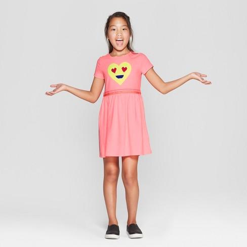 Girls  Flip Sequin Emoji Valentine s Day Dress - Cat   Jack™ Pink ... e436d163c