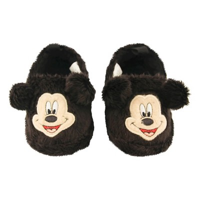 Baby Boys' Disney® Mickey Mouse Bootie Slippers Black 3-6M