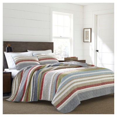 Gray Stripe Salmon Ladder Quilt Set - Eddie Bauer®