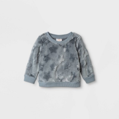 Baby Girls' Star Shirt Jacket - Cat & Jack™ Gray 0-3M