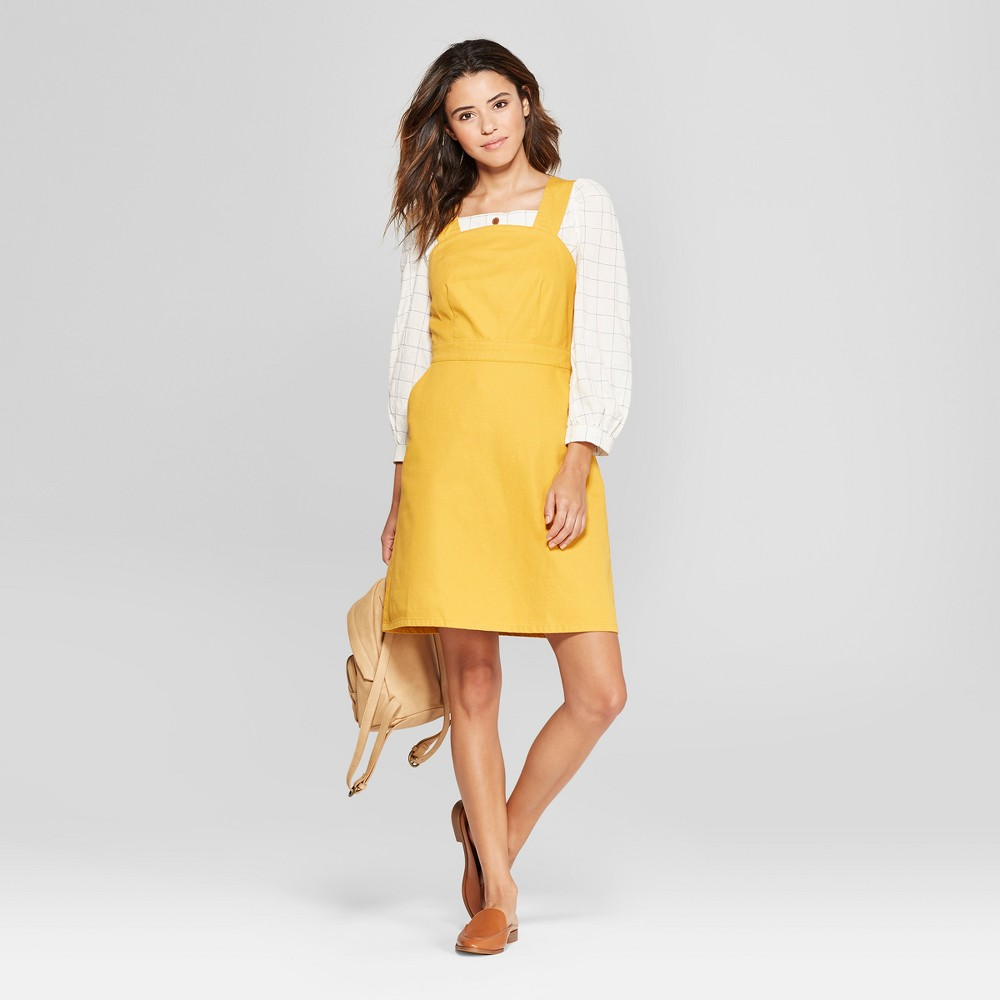 Women's Apron Dress - Universal Thread Yellow M