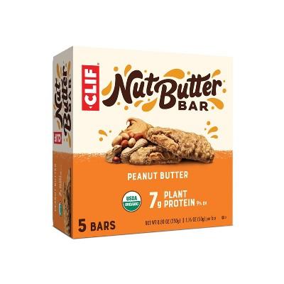 CLIF Nut Butter Bar - Peanut Butter Energy Bars - 8.8oz/5ct