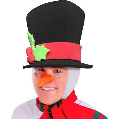 Funky Fresh Snowman Adult Foam Costume Hat