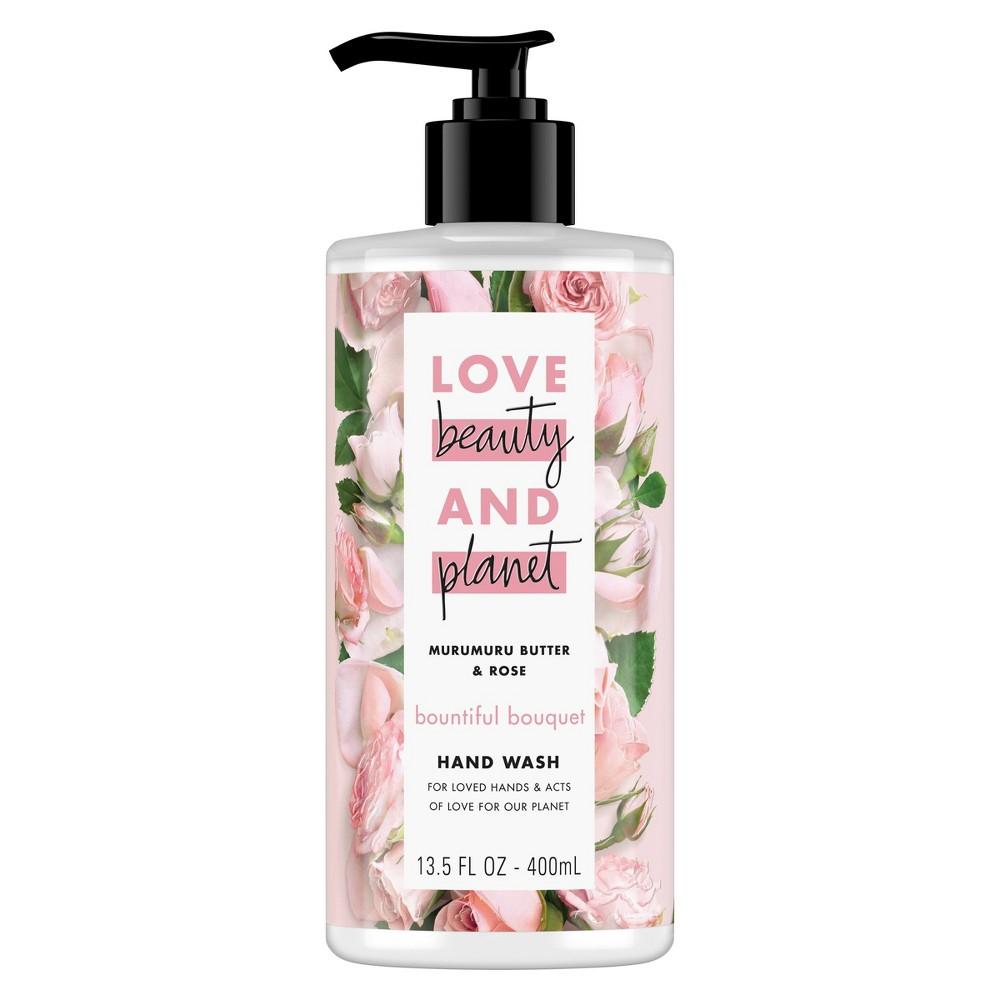 Image of Love Beauty & Planet Murumuru Butter & Rose Bountiful Bouquet Hand Wash Soap - 13.5oz
