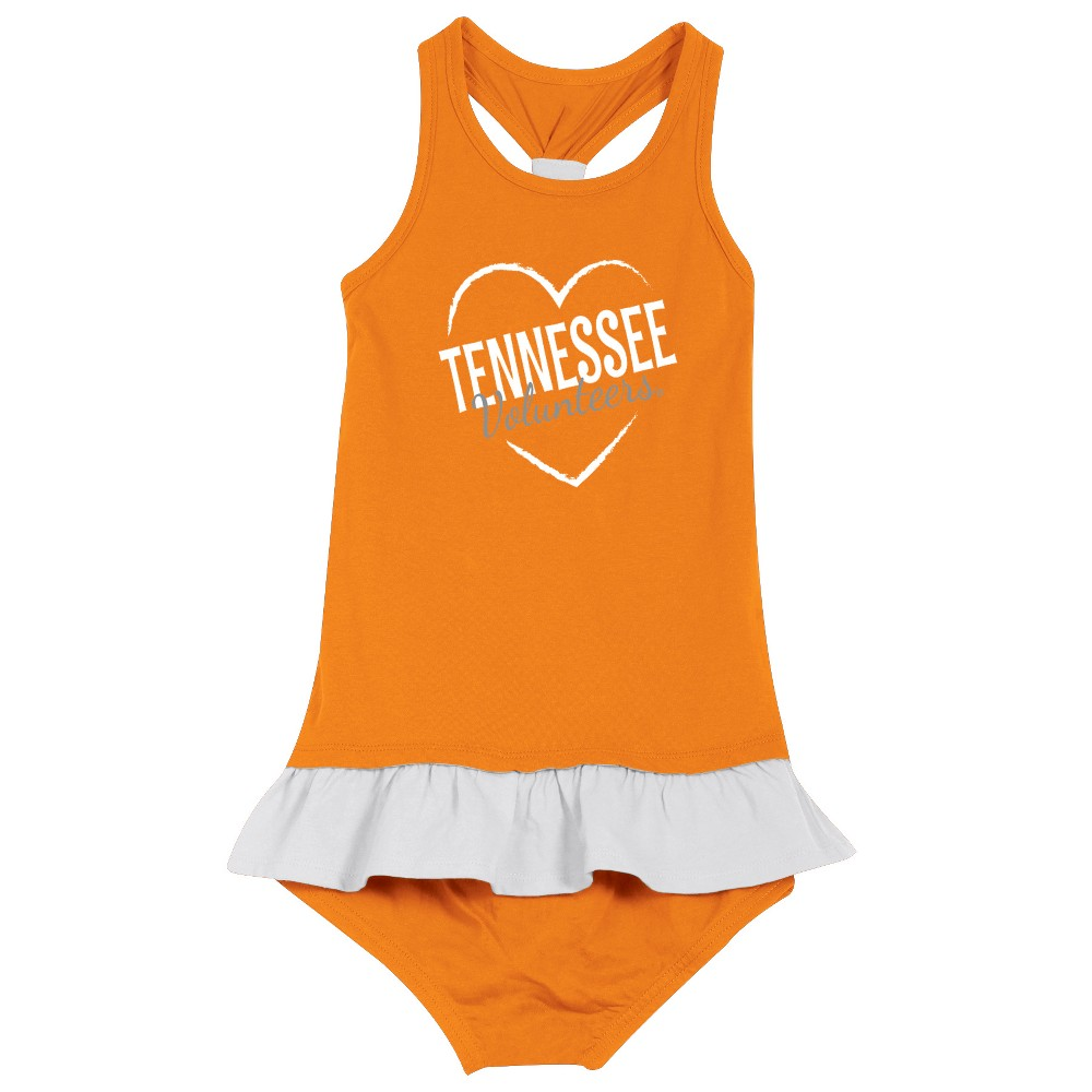 Tennessee Volunteers After Her Heart Toddler Dress 4T, Toddler Girl's, Multicolored