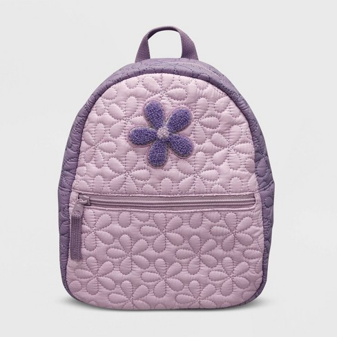 Toddler Girls' Quilted Flower Backpack - Cat & Jack™ Purple - image 1 of 3
