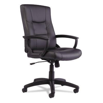 Alera YR Series Executive High-Back Swivel/Tilt Leather Chair, Black YR4119
