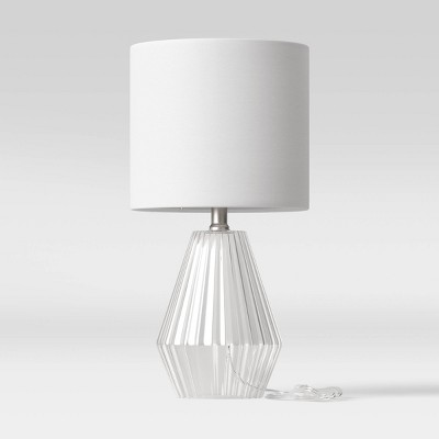 Ribbed Glass LED Accent Lamp Clear (Includes Energy Efficient Light Bulb)- Project 62™