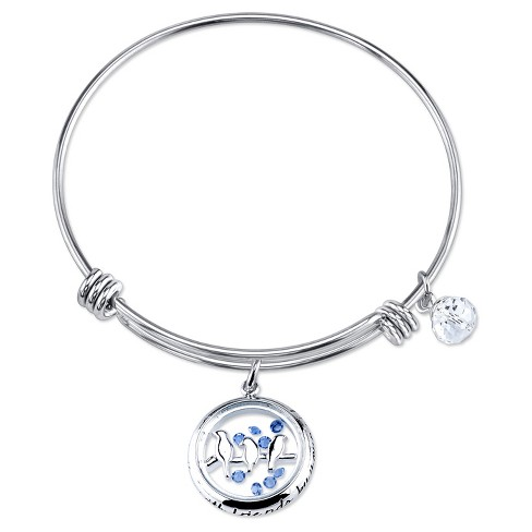 "Women's Stainless Steel Birds Shaker Expandable Bracelet - Silver (8"") - image 1 of 1"