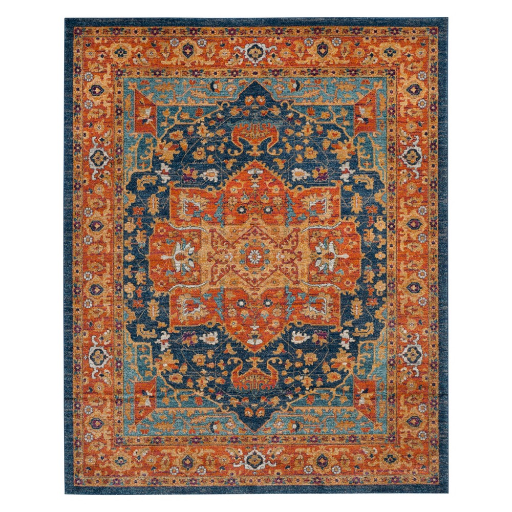 12x18 Medallion Area Rug Blueorange Safavieh