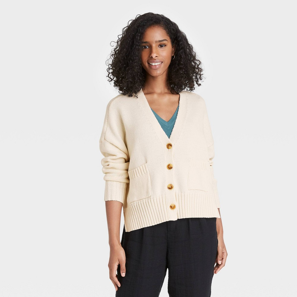 Women 39 S Button Front Cardigans A New Day 8482 Cream Xxl