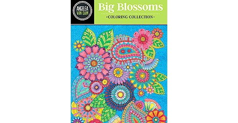 Hello Angel Big Beautiful Blossoms Coloring Collection Adult Coloring Book - image 1 of 1