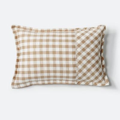 Seersucker Gingham Throw Pillow - NFC Home
