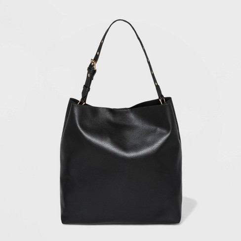 Grommet Handle Tote Handbag - Wild Fable™ Black - image 1 of 2