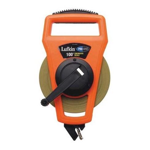 """CRESCENT LUFKIN PS1806DN 100 ft. Tape Measure, 1/2"""" Blade, Orange/Black - image 1 of 1"""