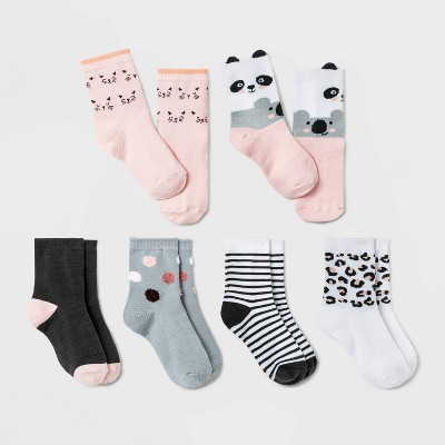 Baby Girls' 6pk Critter Koala Crew Socks - Cat & Jack™ 6-12M