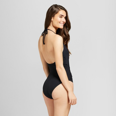 50e5b74e6382f Sunn Lab Women s Halter Wrap One Piece Swimsuit   Target
