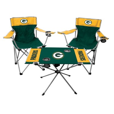 Tremendous Nfl Rawlings Tailgate Kit 2 Chairs And Endzone Table Unemploymentrelief Wooden Chair Designs For Living Room Unemploymentrelieforg