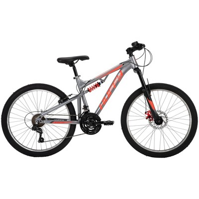 "Huffy Marker Men's Dual Suspension 24"" Mountain Bike - Gunmetal"