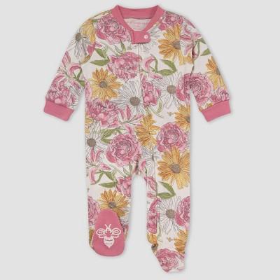 Burt's Bees Baby® Baby Girls' Painted Wildflowers Sleep N' Play - Rose Pink 0-3M