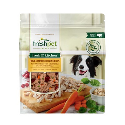 Freshpet Select Fresh From the Kitchen Home Cooked Chicken Recipe Refrigerated Dog Food