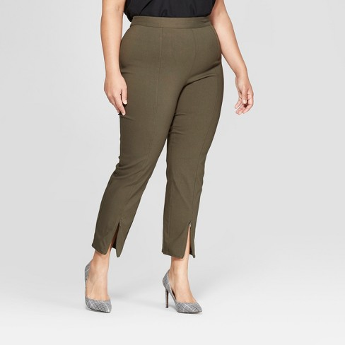 Women's Plus Size Skinny Zip Crop Pants - Who What Wear™ - image 1 of 3