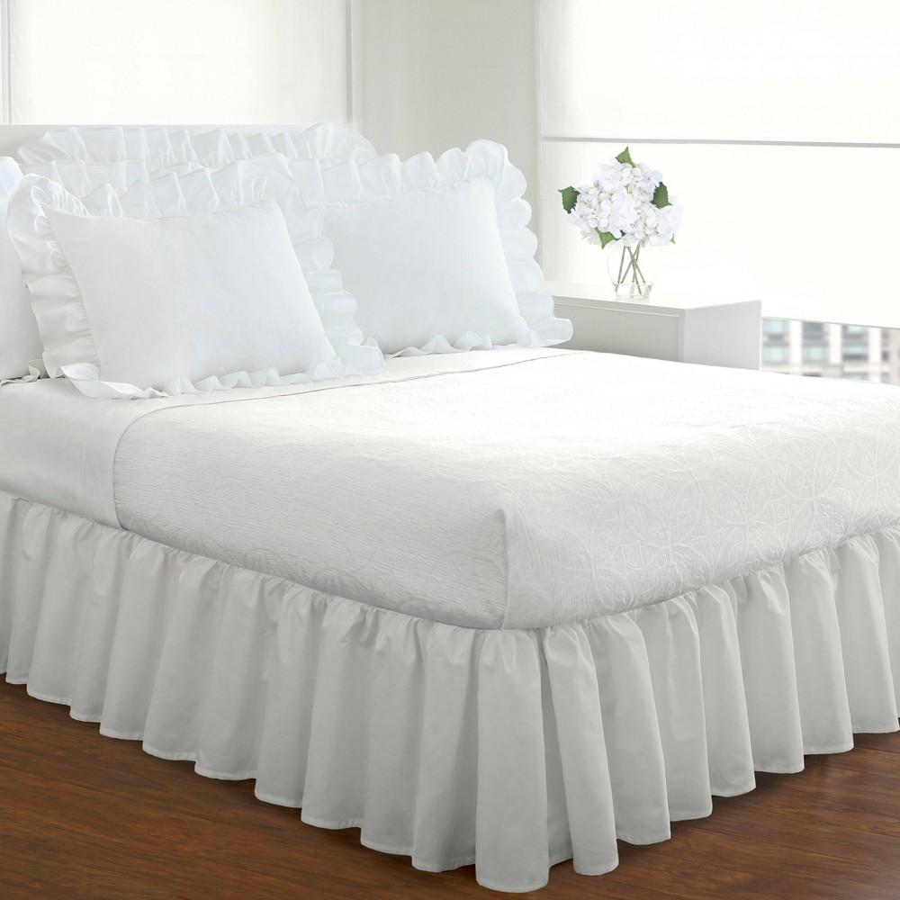 White Ruffled 14 Bed Skirt Twin