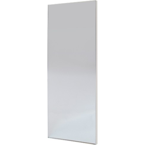 60x20 Brushed Nickel Modern Leaner Decorative Wall Mirror Silver