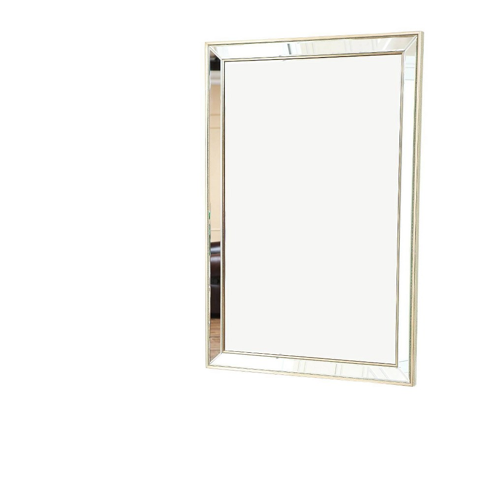 Jolie Rectangle Decorative Wall Mirror Silver - Abbyson Living