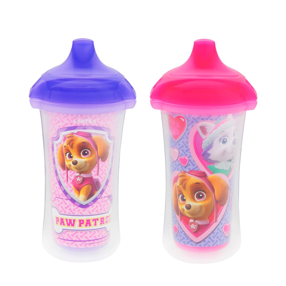 Munchkin Paw Patrol Click Lock 9oz Insulated Sippy Cup, 2pk, Pink