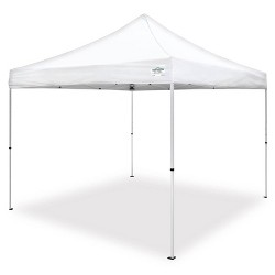 Caravan Canopy M Series Pro 2 10 x 10 ft Straight Leg Pop-Up Canopy Tent, White
