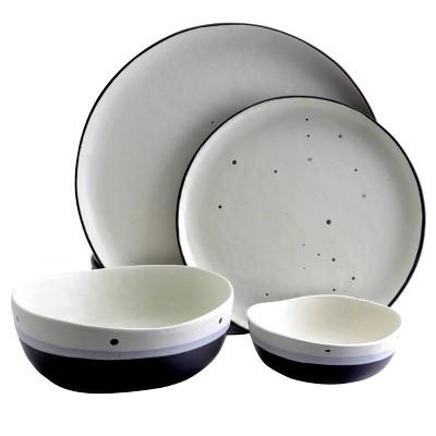Gibson Home 16pc Stoneware Rhinebeck Dinnerware Set