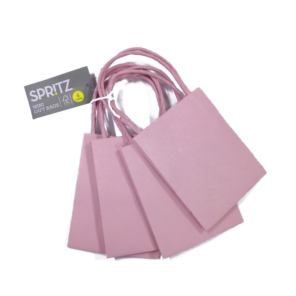 4ct Light Pink Mini Bags - Spritz, Soft Pink